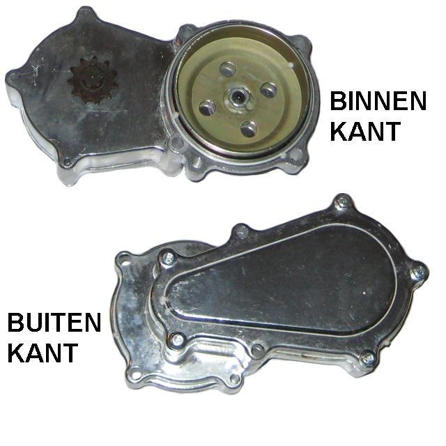 Koppelingshuis met vertraginskast 180MM - 11 tands - voor DIKKE ketting - T8F