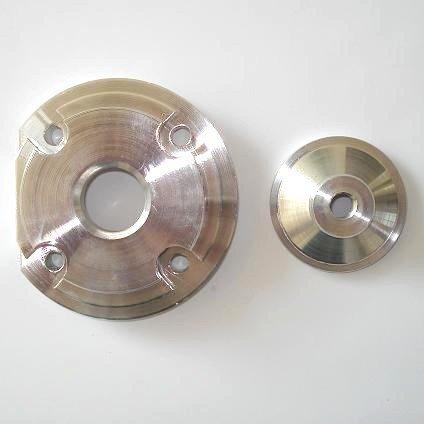 Hogedrukkop voor de bigbore kits - aluminium - kleur: ZILVER