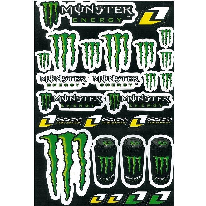 Stickerset Monster Energy - GROOT VEL: 30x42cm