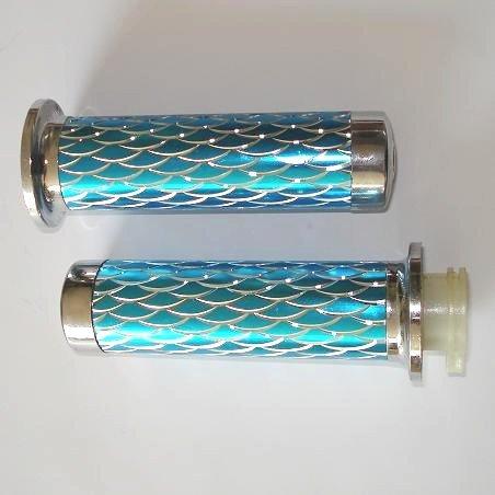Handvaten - Blauw / Zilver