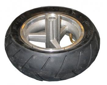 Achterwiel + Achterband (soft) - V-profiel - 110/50-6,5