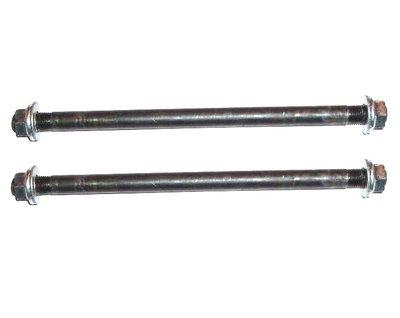 Voorwielas (19cm) + Achterwielas (23cm) - set - 10mm dik