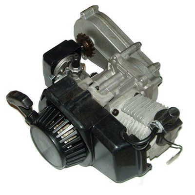 Compleet 47cc / 49cc motorblok voor minicrosser met korte tandwielkast