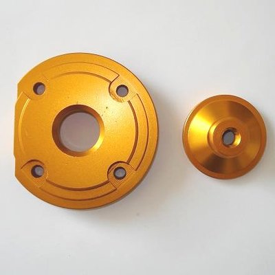 Hogedrukkop voor de bigbore kits - aluminium - kleur: GOUD
