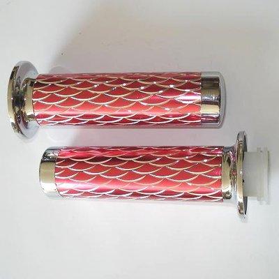 Handvaten - Rood / Zilver