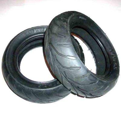 Voorband - 90/65-6,5 + Achterband - 110/50-6,5 - SET - V-profiel